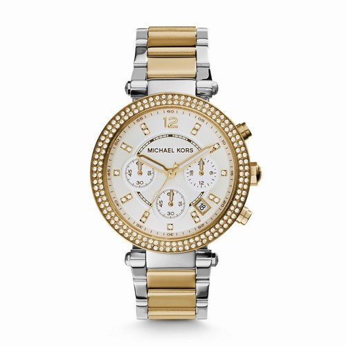 Michael Kors Women's Parker Two-Tone Watch - Michael And Silver Kors Gold