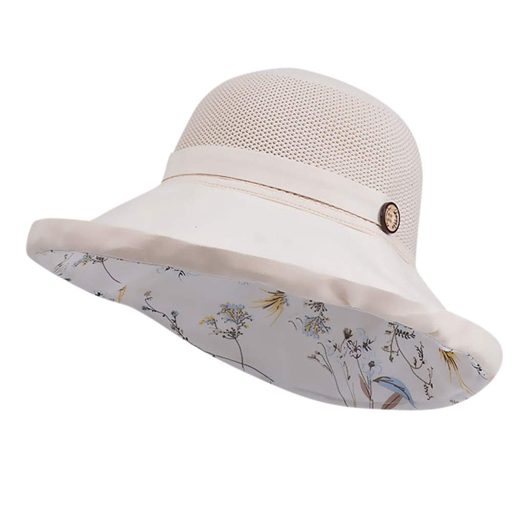 MINXINWY Sombrero de Color s/ólido Mujer Sombrero de Playa Plegable Sombrero Transpirable Sombrero Visera de protecci/ón Solar Gorros de Pescador Mujer