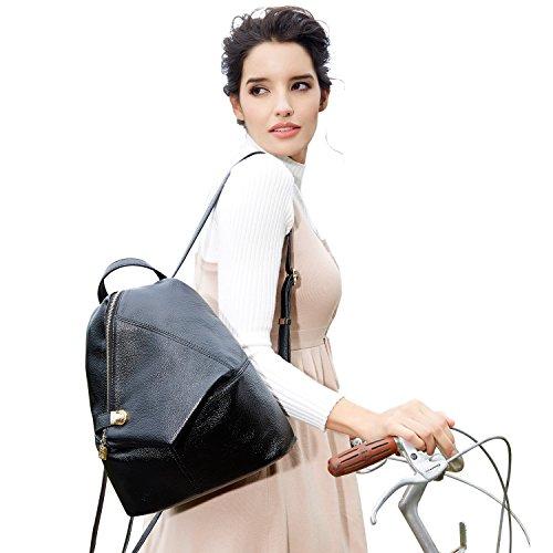 58aa8b755a BOYATU Womens Leather Backpacks Ladies Travel Purse Satchel Shoulder ...