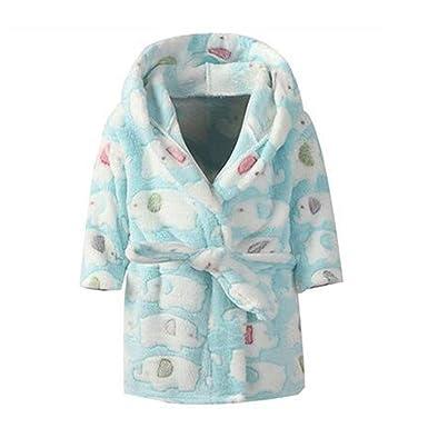 649692614 Amazon.com  TAIYCYXGAN Toddler Girls Boys Coral Fleece Bathrobe ...