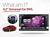 Hot selling product 6.2 inch Double DIN in Dash Car Dvd Player Car Stereo Touch Screen with Bluetooth USB Sd Mp3 Radio for Universal Car Free Backup Camera