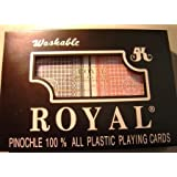 Pinochle Big Number Plastic Playing Cards