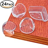 Baby : KeNeer 24Pack Baby Proofing Corner Guards, with Double Sided Oily Adhesive, Safety Protector for Table, Chair, Cabinet and Other Furniture with Corner, (Triangle & Ball Shaped with Backup Adhesive)