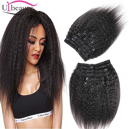 Urbeauty Brazilian Kinkys Straight Clip in Hair Extensions Human Hair 18