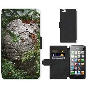 hello-mobile PU LEATHER case coque housse smartphone Flip bag Cover protection // M00137465 Jerarquía de la avispa de la naturaleza // Apple iPhone 5 5S 5G