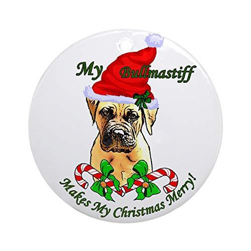 CafePress Bullmastiff Christmas Ornament (Round) Round Holiday Christmas Ornament