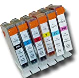 6 Chipped Compatible Canon CLI-8 Photo-Pack Ink Cartridges for Canon Pixma iP6700D