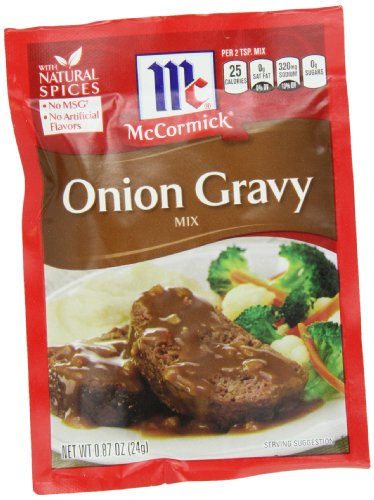 McCormick Onion Gravy Mix, 0.87 oz, Homemade Lump-Free Onion Gravy in Just 5 Minutes, Perfect With Roasts, Potatoes and More (Pack of 12)