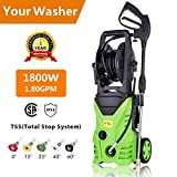 Aceshin Electric Power Pressure Washer, 3000 PSI 1.80 GPM Electric Pressure Washer, High Pressure Cleaner with Hose Reel (US Stock) For Sale