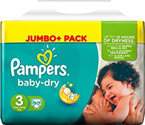 pampers baby dry size 3 midi jumbo pack 90 pack amazon. Black Bedroom Furniture Sets. Home Design Ideas