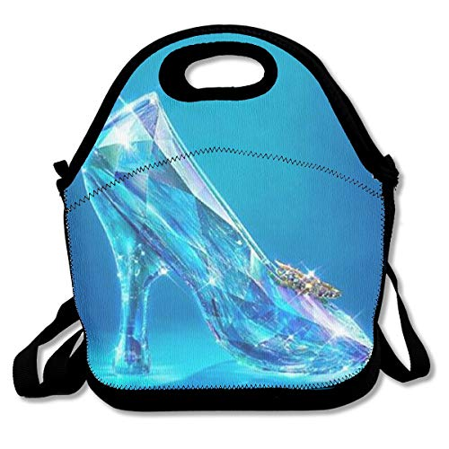 YHHCZX Cinderella's Crystal Shoes Lunch Bag Reusable Insulated Thermal Handbags Tote Bags for Adults,Kids,Nurse Teacher Work Outdoor Travel Picnic