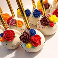 Candy Polymer Clay Resin /… Cupcake Topper SAKOLLA 21 Cavity Rose Flower Cake Fondant Mold for Sugarcraft Cake Decoration Chocolate