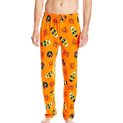[MJC International Men's Sesame Street Halloween Toss Sleep Lounge Pant, Orange, Medium] (Halloween Sesame Street)