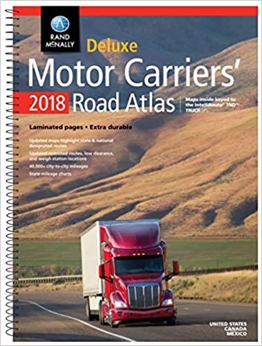 2018 Rand McNally Deluxe Motor Carriers Road Atlas Dmcr