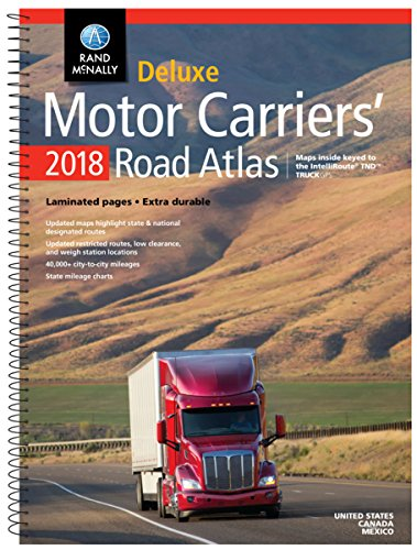 2018 Rand McNally Deluxe Motor Carriers' Road Atlas (Rand Mcnally Motor Carriers' Road Atlas Deluxe Edition) cover