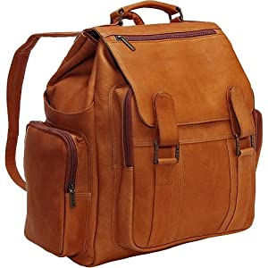 Cape Cod Leather Oversized Backpack – Vaquetta Leather (Tan)