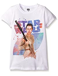 Star Wars Big Girls' The Force Awakens Episode 7 BB-8 Graphic Tee