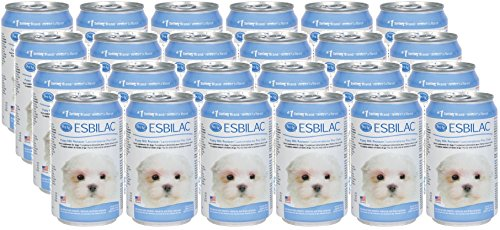 Petag Esbilac Milk Replacer for Puppies, 8 Ounces Per Can, 24 Pack (Dog Formula Milk)