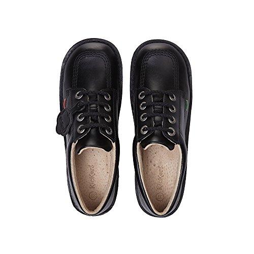 Noir École Classique Kickers Teen Enfants Kick Chaussures Cuir Lo En De vq4TSx