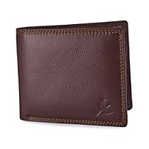 Hornbull Mens Brown Stella Genuine Leather RFID Blocking W