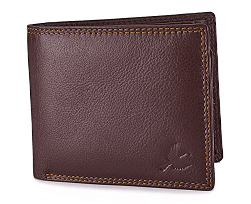 Hornbull Men'S Brown Themes Leather Wallet