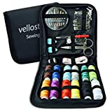SEWING KIT - Deluxe Pack for Emergency Clothing Repairs. Highly Rated Medium Mending Sew Storage Set for Kids & Adults | Beginner Mini Travel Kits w/Improved Threads & Needles Supplies & Accessories