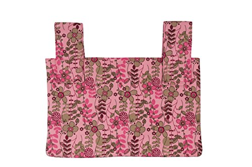 Qelse Designer Walker Bag 3-Pocket Tote Organizer Pouch PINK FLORAL Accessories for Beautiful Mobility by Qelse