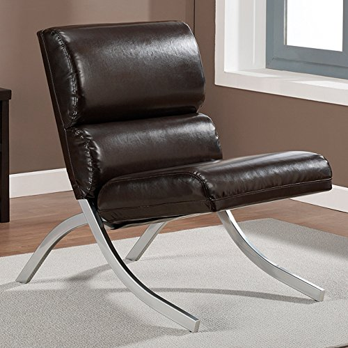 Faux Leather Contemporary Chair - 6