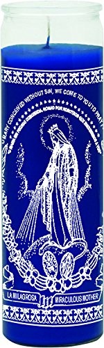 INDIO 7 Day Glass Candle Miraculous Mother ()