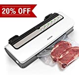 JZBRAIN Vacuum Sealer, Automatic Air Sealing Machine For Food Saver, Compact Design,Lab Tested,Dry & Moist Food Modes