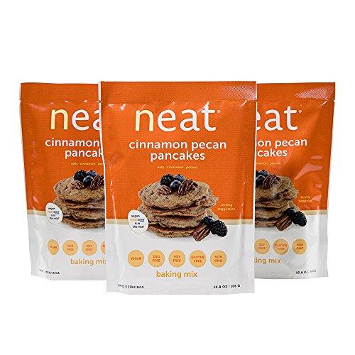 neat - Vegan - Cinnamon Pecan Pancakes Mix (10.8 oz.) (Pack of 3) - Non-GMO, Gluten-Free, Soy Free, Baking - Pancake And Mix Gluten Free Dairy