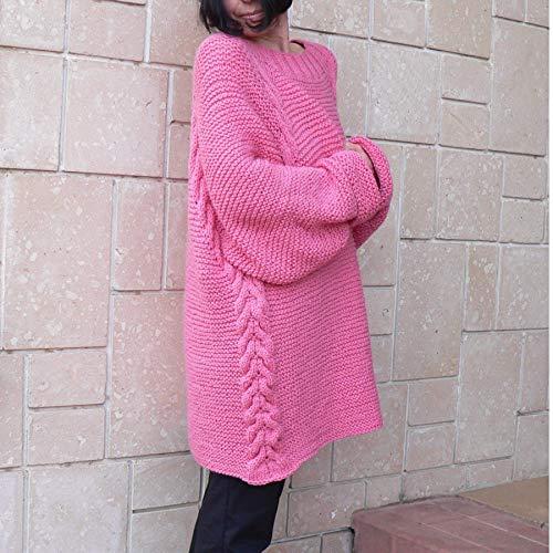 Amazon.com  Women s bulky sweater pullover  042E  Handmade 5488b1492