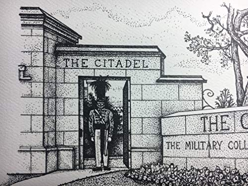 Citadel - hand-drawn pen and ink print by Campus Scenes (Image #7)