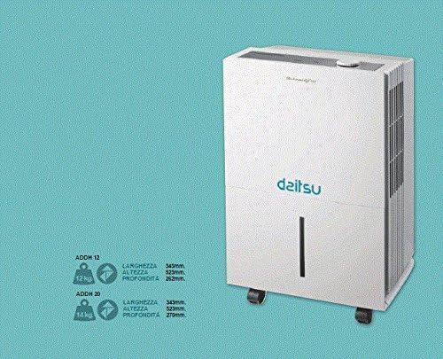Daitsu 3NDA0047 Deshumidificador Digital ADDP-20, Capacidad 20 litros día, Mínimo Nivel Sonoro, Área de Aplicación de hasta 52 m²: Amazon.es: Bricolaje y herramientas