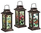 New Creative Fluttering Garden Friends Solar Lantern, 3 Piece Set, Butterfly, Dragonfly, and Hummingbird