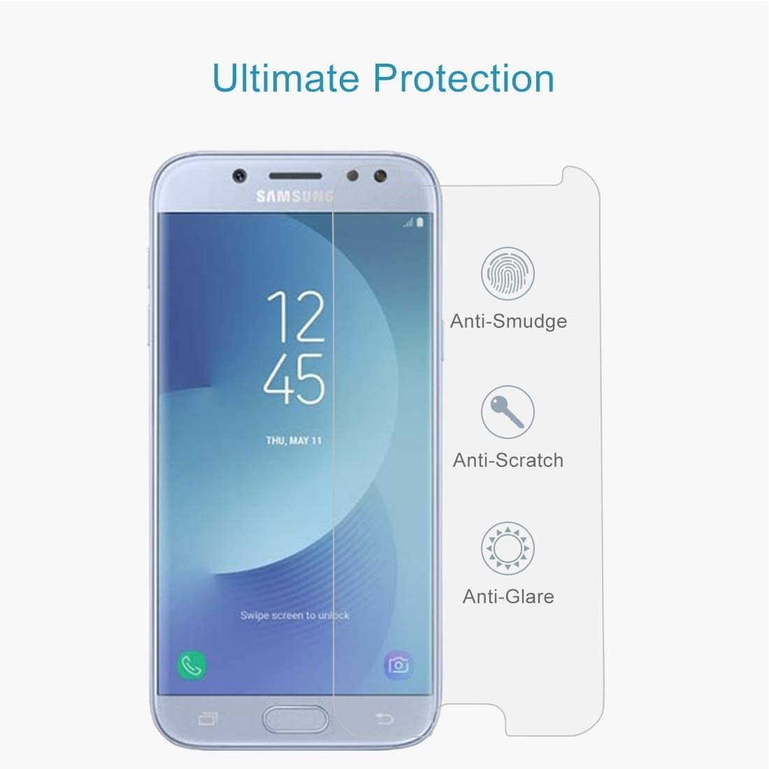 ScreenProtector YHM 100 PCS for Galaxy J5 2017 0.26mm 9H Surface Hardness 2.5D Explosion-Proof Non-Full Screen Tempered Glass Screen Film EU Version