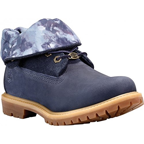 9 Women's with Roll Print Indigo Vintage CA14B7 Watercolor Timberland Size Nubuck Color Top W US Authentics Ux5qO1twR