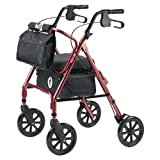 HUGO Premium Rolling Walker, Cranberry