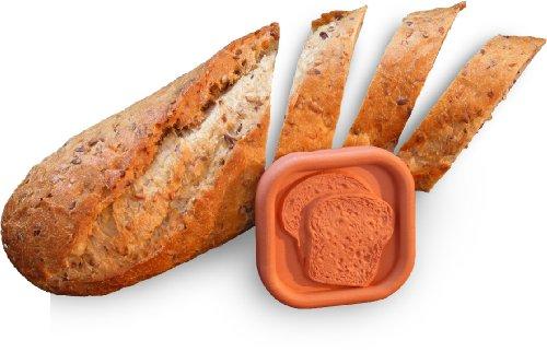 (JBK Pottery Bread Saver, 2.25 x 2.25 Inches, Terra Cotta)