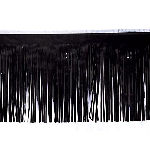 Black Vinyl Fringe - 15
