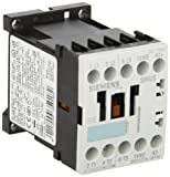Siemens 3RT10 15-1BF41 Motor Contactor, 3 Poles, Screw Terminals, S00 Frame Size, 1 NO Auxiliary Contact, 110V DC Coil Voltage