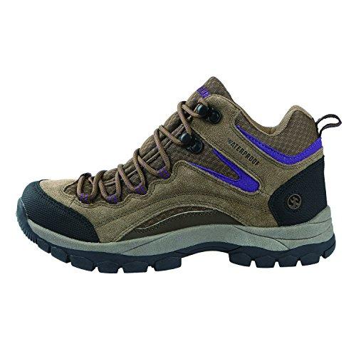 Image of Northside Women's Pioneer Hiking Boot, Medium Brown/Dark Purple, 8 M US