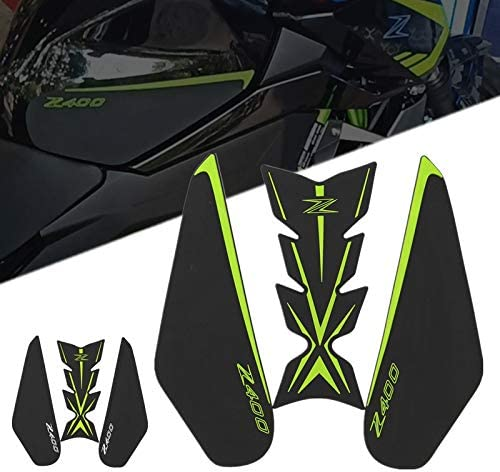 Color : COMBO Green RONGLINGXING NEW Motorcycle Tank Pad Protector Sticker Decal Gas Fuel Knee Grip Traction Side for Kawasaki Z400 Z 400 2018 2019