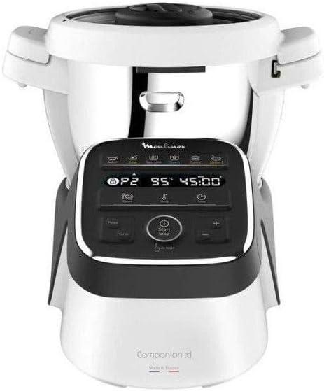 Moulinex Robot Cuiseur Companion XL Gris Noir 1550W 4,5L HF808800: Amazon.es: Hogar