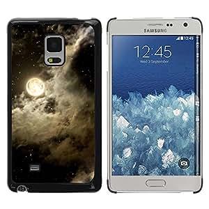 Paccase / SLIM PC / Aliminium Casa Carcasa Funda Case Cover para - Sky Clouds Night Stars Black White - Samsung Galaxy Mega 5.8 9150 9152