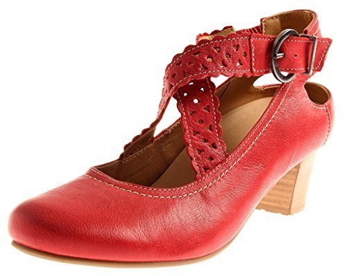 Cuir en 124 Chaussures Rouge 006 Chaussures Escarpins wechseflußbett pour Femmes Footnotes UYRw1TTq