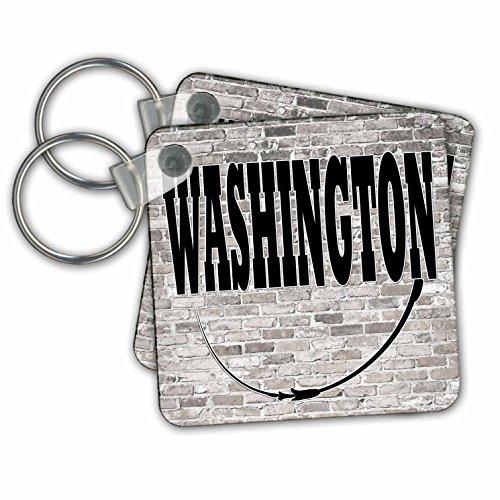 RinaPiro - US States - Washington. State Capital is Olympia. - Key Chains - set of 4 Key Chains - State Olympia Capital Of Washington