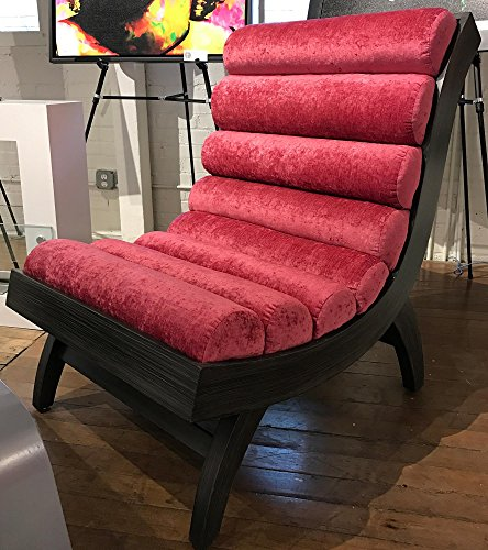 Velvet Lounger - Original Wood Furniture Contemporary Lounge Chair Handmade Home Furnishings Modern Seating by Renowned Artist Adam Schwoeppe