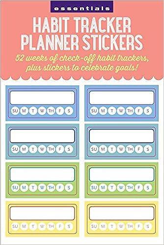 essentials habit tracker planner stickers inc peter pauper press
