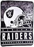 """Officially Licensed NFL Oakland Raiders Stacked Silk Touch Throw Blanket, 60"""" x 80"""""""